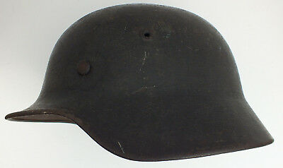 GERMAN HELMET WWII Some deterioration on crown, leather Liner intact Good Cond