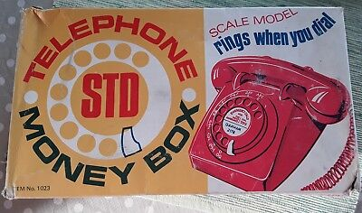 Vintage Child's Money Box Telephone Boxed