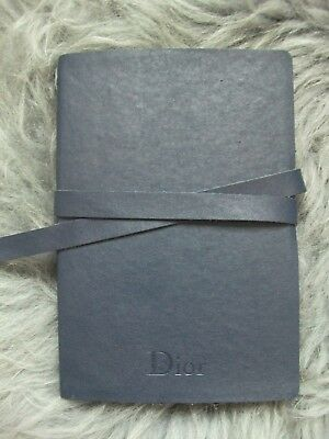 CD Christian Dior Blue Leather Bound Notebook Designer Lined Pages Book Journal