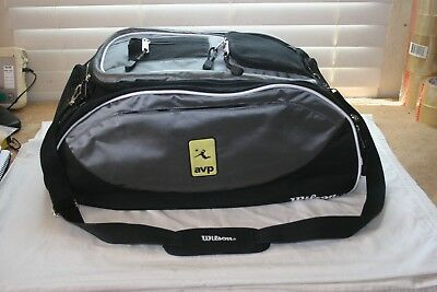 Wilson AVP Logo Volleyball Gear Bag Backpack Duffle Excellent Condition