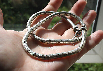Beautiful Vintage Heavy Sterling Silver Snake Chain Necklace 70g