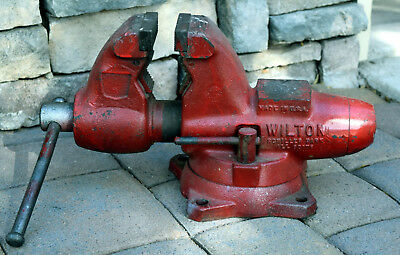 "Wilton 3 1/2"" Bullet Bench Vise w/ Swivel Base No 101166 RED *PICK UP ONLY*"