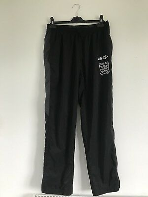 Hull FC Rugby League Track Pants Large Black/Grey/White Very Good Condition