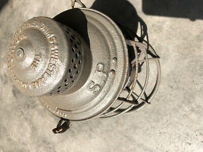Railroad Lantern Southern Pacific with C & A M Co.  Red Globe