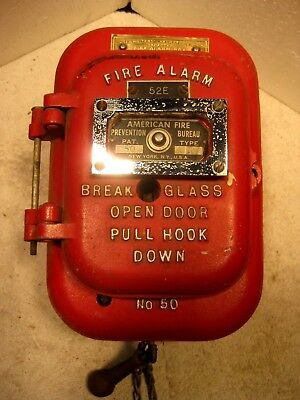 Vintage Samson manual pull coded fire alarm station