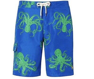 Boys Ralph Lauren Octopus Swimming Trunks Shorts Age 8