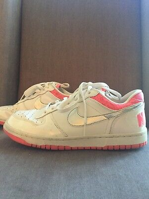 NIKE Hot Pink & White & Silver Women's Shoes With Lace Trim - Size: 8.5