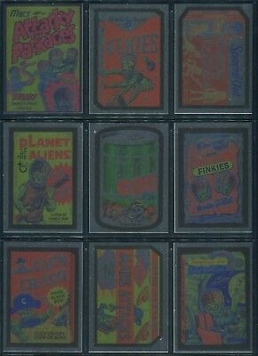 2016 Topps Kickstarter Mars Attacks Occupation Attacky Wacky Packages Foil Set