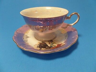 Vintage Souvenir Cup and Saucer Set from Mexico