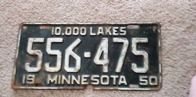 License Plate 1950 Minnesota
