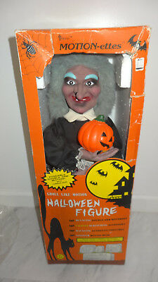 """Vintage 1988 Telco Motionette Witch Halloween 24"""""""