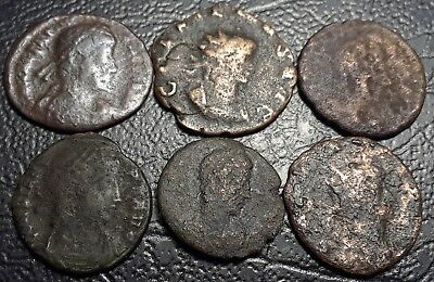 Lot Of 6 Coins From The Ancient ROMAN Empire All Unidentified Coins No Reserve