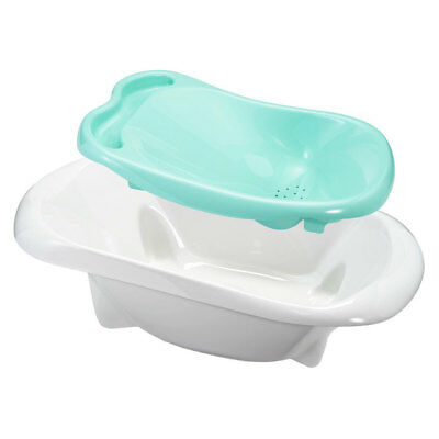 First Years Newborn/Infant/Baby/Toddler 4in1 Warming Comfort Tub/Bath/Bather WHT