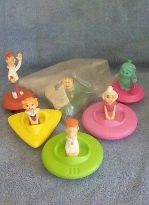 Vintage 1989 The Jetsons- Wendy's toys. lot of 6 plastic toy prize kid meal