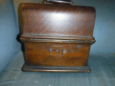 antique columbia cylinder roll phonograph for restore