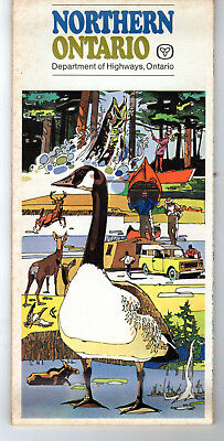 Lot 4 Ontario Canada Official Highway Maps 1969 1972 Northern Ont Province
