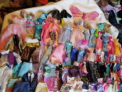 Lot of 125 Pcs. Barbie Doll Clothes  Dresses Ken & Like Size Vintage - Current