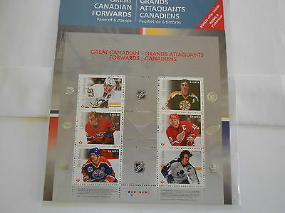 Hockey Heroes Forwards 2016 Special Pane of 6 Stamps Collection
