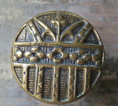 Antique Solid Brass ORNATE Art Nouveau Aesthetic Knob Pull Cabinet Door Drawer