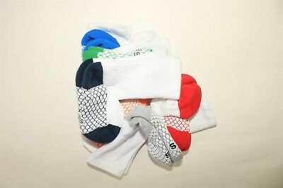 LOT OF 6 PAIR CIRCO Boy's Cushioned Sole Mesh Top Ventilation Crew Socks - SMALL