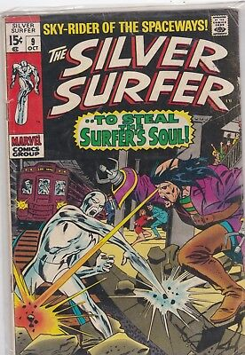Silver Surfer 9,vg, To Steal The Surfer's Soul, Silver Age