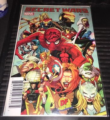 Secret Wars #1 DF Variant Signed By Greg Land NM 120/400 Marvel