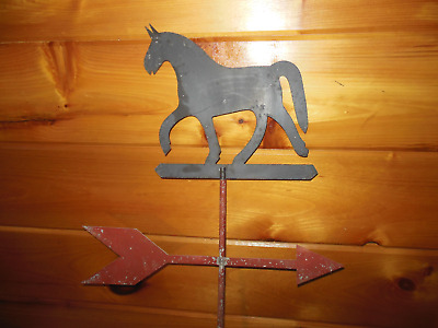 Vintage Metal HORSE Topper with Directional Weathervane