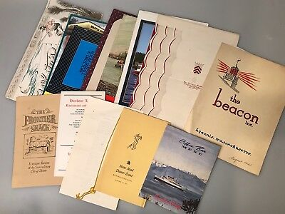 Vintage Misc Menu Lot - Great Condition - All Different Era's - NO RESERVE -