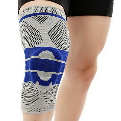 Contoured Full Knee Brace Strap Patella Medial Support Protector Silicone Gel US