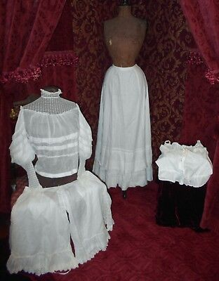 Victorian Edwardian Antique Gibson Girl Titanic Whites Bodice, Lingerie Lot