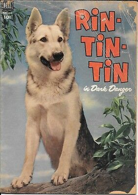 Rin Tin Tin Dell Four Color #434  W/ Front And Back Photocovers 1952