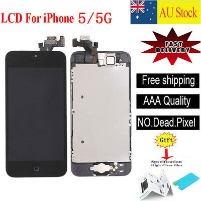For iPhone 5 5G black LCD Screen Touch Digitizer Full Assembly replacement