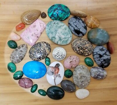 Semi Precious Stones Lot Removed from Jewelry