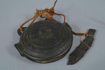 R423: Japanese XF Copper Shapely BELL Waniguchi Buddhist art