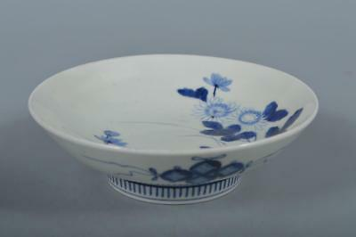 M9818: Japanese XF Old Nabeshima-ware Shippo crest pattern ORNAMENTAL PLATE/Dish