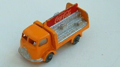 1950s MATCHBOX LESNEY w GREY METAL WHEEL COCA COLA DELIVERY TRUCK CLEAN #1