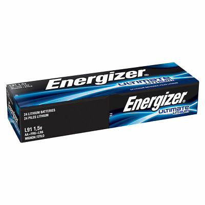 Energizer L91 AA Ultimate Lithium Batteries 24 Pack