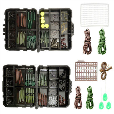 Fishing Carp Combination Accessory Set Tackle Box Bait Bend PE TEFLON Hook Clip