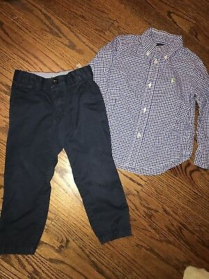 Toddler Boys Lot Of 2 Polo Ralph Lauren And H&M Set 2T