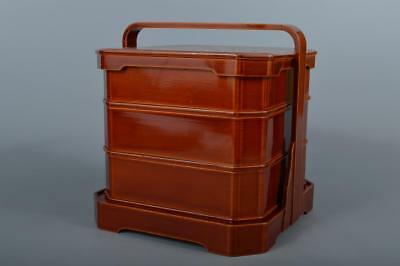 M9934: Japanese Wooden Hida Shunkei lacquer ware FOOD BOXES Jubako Lunch Box