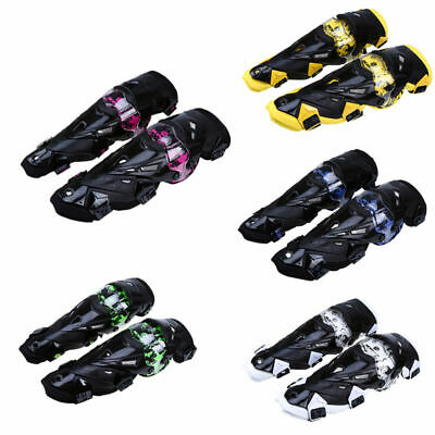 Durable Knee Shin Armor Bike Motorcycle Motocross Racing Protector Guard Pads