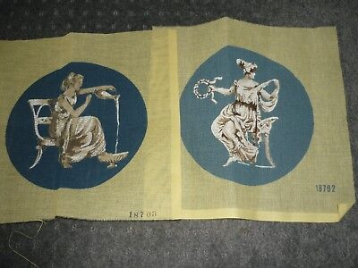"2 X ""greek Theme""  - Tapestry Canvases - New"