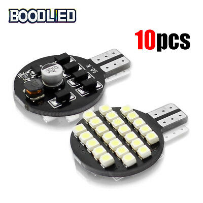 10pcs T10 192 194 ultra white led Wedge RV Landscaping Light Bulbs 24SMD W5W