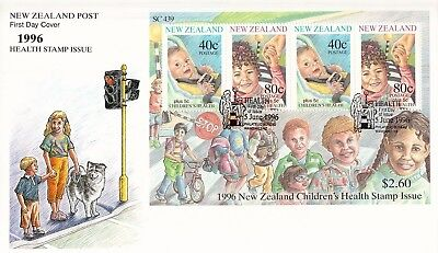 L4575sbs New Zealand First Day Cover 1996 Childrens Health MS