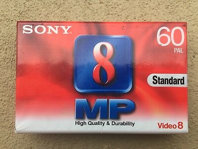 Sony Video 8 MP - Standard 60 PAL - Brand New Factory Sealed