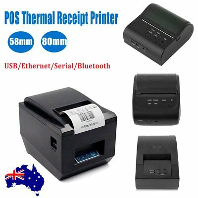 High Speed 80mm Bluetooth/Wireless Receipt POS Thermal Printer MJ-8001 OZSTOCK #