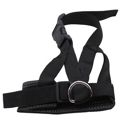Dog Supplies Muzzle Adjustable Loop With  Padding Softy Safety Nylon Black TL