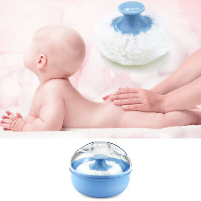Portable Baby Soft Body Talcum Powder Puff Sponge with Box Case Container Virtu