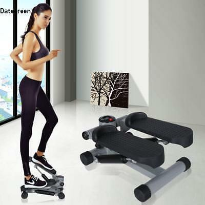 Mini Up-down Exercise Stepper & Arm Cords Stair Climber Gym Step Swing Machine