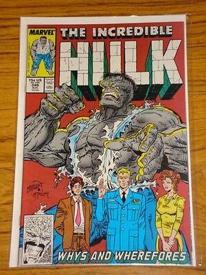 Incredible Hulk #346 Vol1 Marvel Comics Last Mcfarlane August 1988
